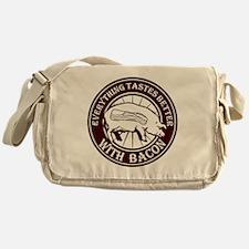 Pig Black Leg Black Burst- Brown Messenger Bag