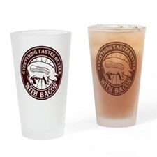 Pig Black Leg Black Burst- Brown Drinking Glass