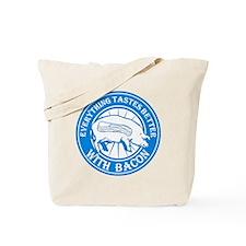 Pig Black Leg Black Burst- Lt Blue Tote Bag