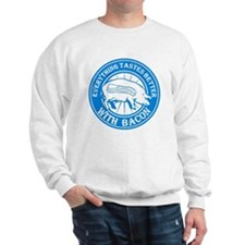Pig Black Leg Black Burst- Lt Blue Sweatshirt