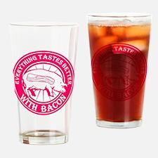 Pig Black Leg Black Burst- Pink Drinking Glass
