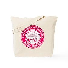 Pig Black Leg Black Burst- Pink Tote Bag