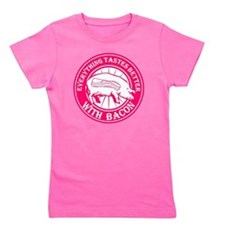Pig Black Leg Black Burst- Pink Girl's Tee