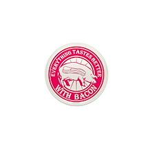 Pig Black Leg Black Burst- Pink Mini Button