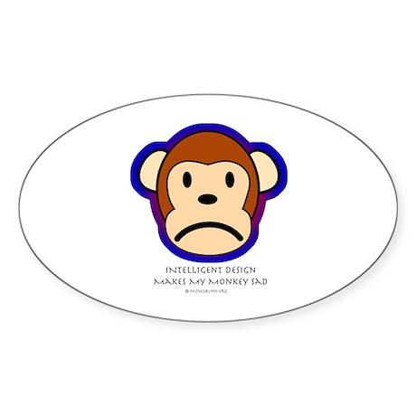 Intelligent design is a biohazard Oval Sticker