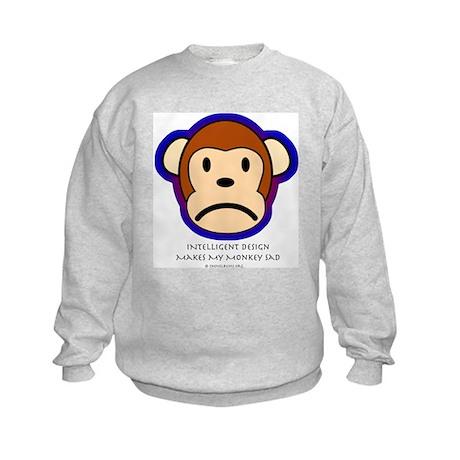 Intelligent design is a biohazard Kids Sweatshirt
