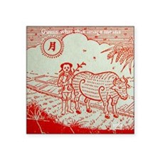 """cow-tshirt Square Sticker 3"""" x 3"""""""