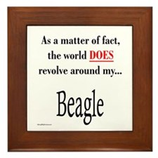 Beagle World Framed Tile