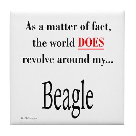 Beagle World Tile Coaster