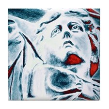 HPIM4588-4woman Tile Coaster