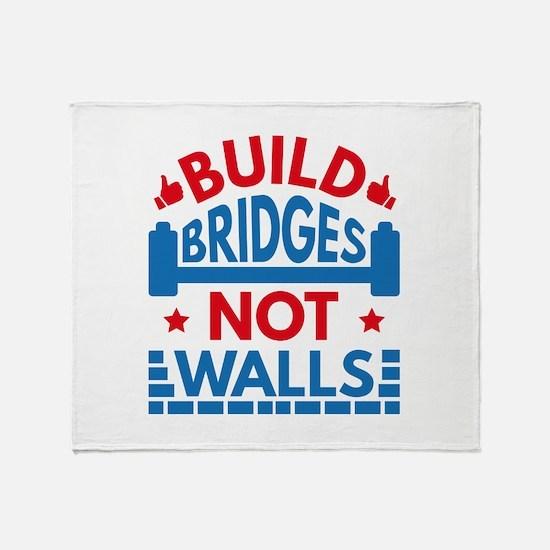 Build Bridges Not Walls Stadium Blanket