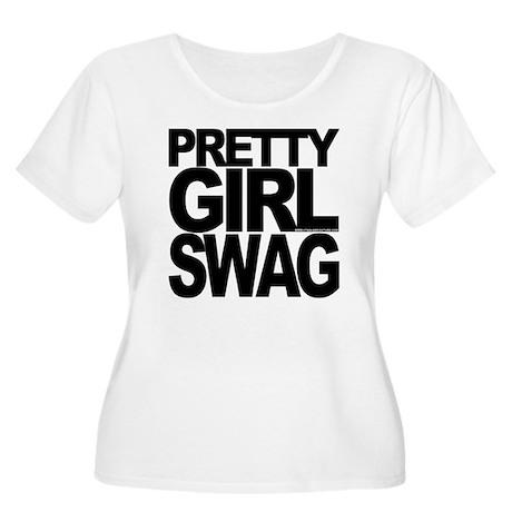 PRETTYGIRLSWA Women's Plus Size Scoop Neck T-Shirt