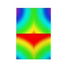 Rainbow-Offset Rectangle Magnet