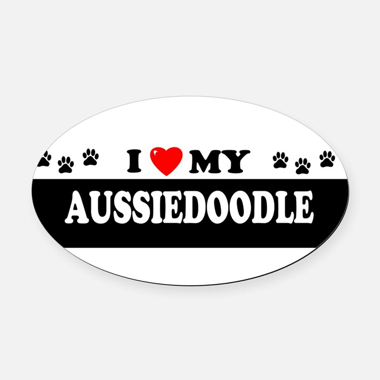 Cute The more i love my dog Oval Car Magnet