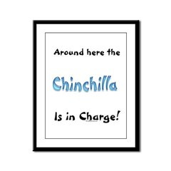 Chin In Charge Framed Panel Print