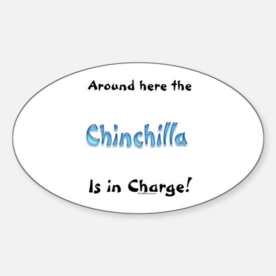 Chin In Charge Oval Bumper Stickers