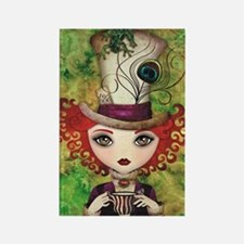 Lady Hatter Rectangle Magnet
