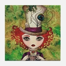 Lady Hatter Tile Coaster