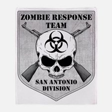 Zombie Response Team San Antonio Throw Blanket