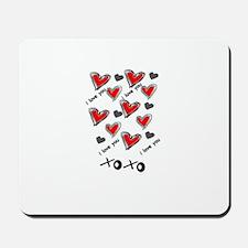 i love you hearts Mousepad