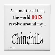 Chinchilla World Tile Coaster