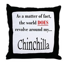 Chinchilla World Throw Pillow