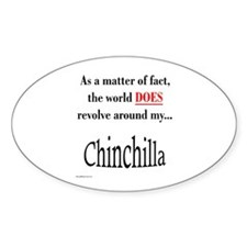 Chinchilla World Oval Decal