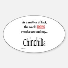 Chinchilla World Oval Decal