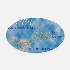 Learn Live Hope Note Card Oval Car Magnet