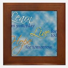Learn Live Hope Note Card Framed Tile