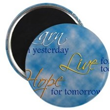 Learn Live Hope Note Card Magnet