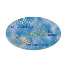 Learn Live Hope Note Card 35x21 Oval Wall Decal