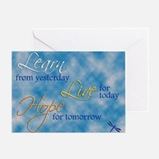 Learn Live Hope Note Card Greeting Card