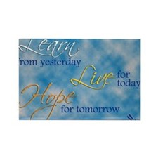 Learn Live Hope Note Card Rectangle Magnet