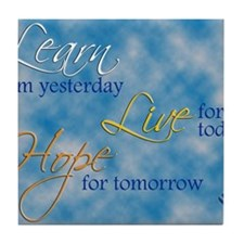 Learn Live Hope Note Card Tile Coaster