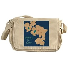 willing to Grow Floral Messenger Bag