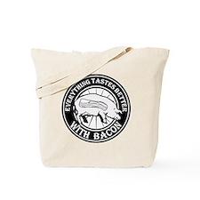Pig Black Leg Black Burst- Black Tote Bag