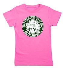 Pig Black Leg Black Burst- Green Girl's Tee