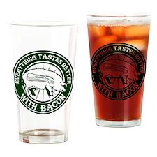 Pig Black Leg Black Burst- Green Drinking Glass