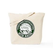 Pig Black Leg Black Burst- Green Tote Bag