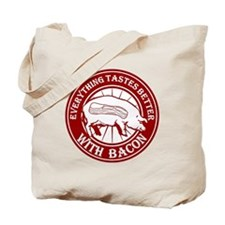 Pig Black Leg Black Burst- Dark Red Tote Bag