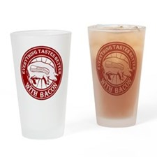 Pig Black Leg Black Burst- Dark Red Drinking Glass