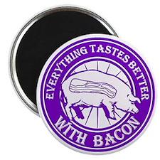 Pig Black Leg Black Burst- Purple Magnet