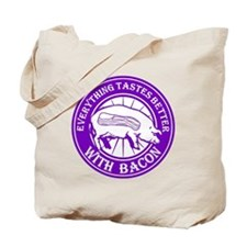 Pig Black Leg Black Burst- Purple Tote Bag