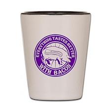 Pig Black Leg Black Burst- Purple Shot Glass