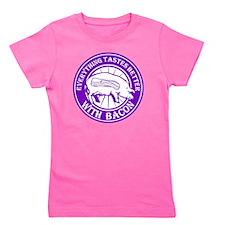 Pig Black Leg Black Burst- Purple Girl's Tee