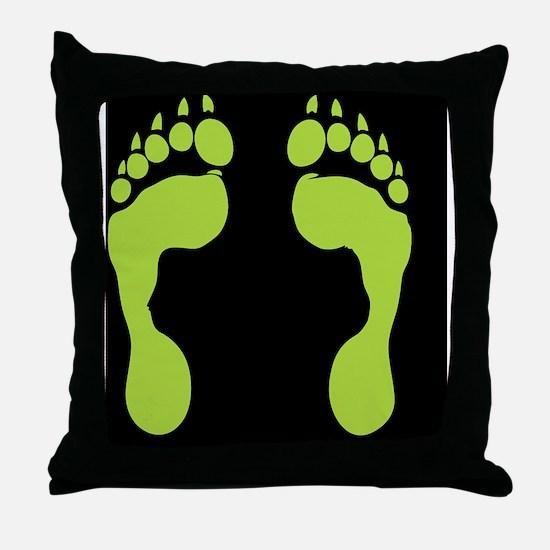 werewolf-track-grn-FF Throw Pillow