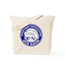 Pig Black Leg Black Burst- Blue Tote Bag