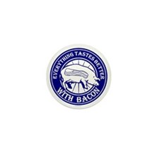 Pig Black Leg Black Burst- Blue Mini Button