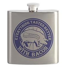Pig Black Leg Black Burst- Blue Flask